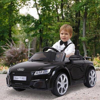 12V Battery Licensed Audi TT RS Ride On Car - Black
