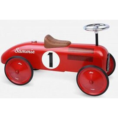 Personalised Ride On Car - Classic Red Race Car