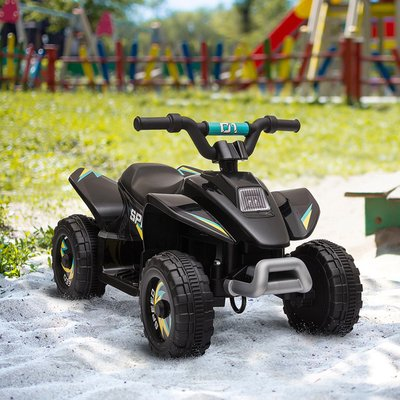 6V Kids Electric Ride on Car ATV Toy Quad Bike - Black