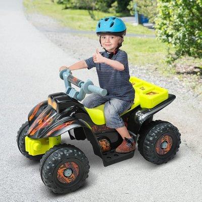 6V Kids Electric Ride on Car Quad Bike ATV Toy  - Black