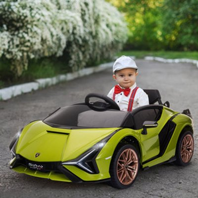 Compatible 12V Battery-powered Electric Ride On Car - Green