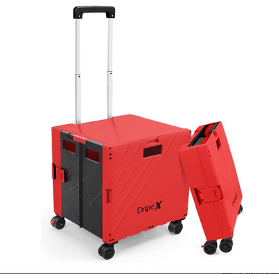 Dripex Folding Boot Cart Shopping Trolley  - Red & Black