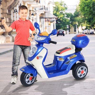 6V Kids Electric Ride On Toy Car Motorbike - Blue