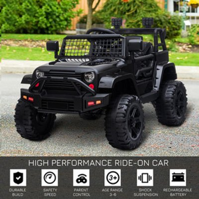 12V Kids Electric Ride On Car Truck Toy SUV - Black