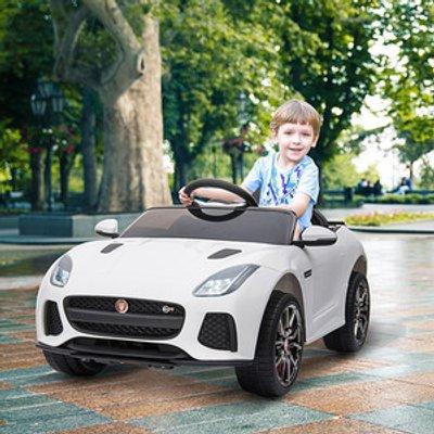 Kids Jaguar F type SVR Licensed Ride On Car - White
