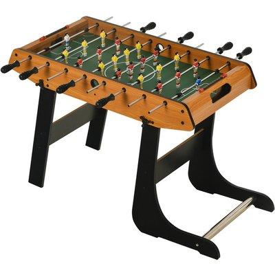 Folding Foosball Gaming Table Mini Football Soccer Table - Natural wood finish