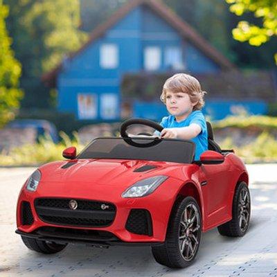 Kids Jaguar F type SVR Licensed Ride On Car - Red