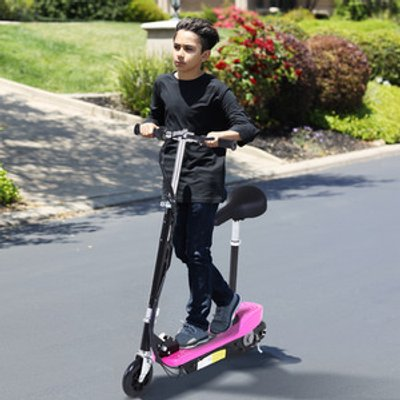 Kids Electric E Scooter Ride On - Pink