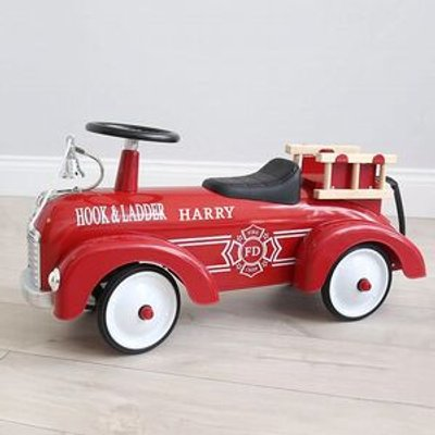 Personalised Ride On Car - Red Fire Engine