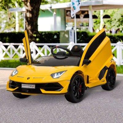 Electric Ride On Lamborghini Aventador - Yellow