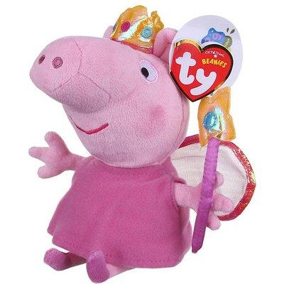 TY Beanies Peppa Pig Princess Peppa Soft Toy