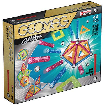 Geomag Glitter Magnetic Construction Set - 44 Pieces