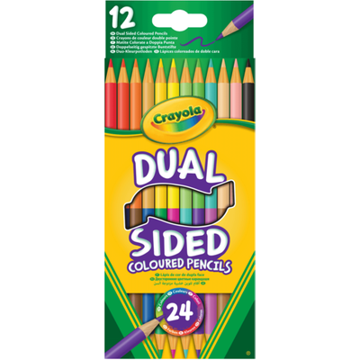 Crayola Dual Sided 24 Coloured Pencils