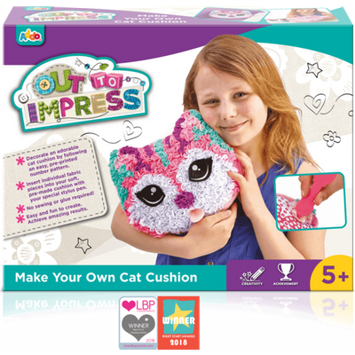 Out To Impress Make Your Own Cushion - Cat