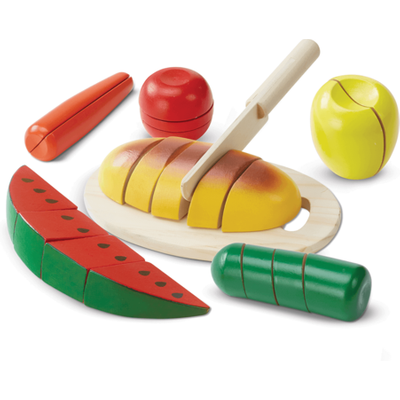 Melissa & Doug Cut & Slice Wooden Play Food Set