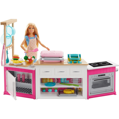 """""""Barbie Ultimate Kitchen with Doll, Dough, Cooking, Baking Toy Playset"""""""