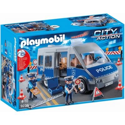 Playmobil 9236 City Action Policemen with Van with Flashing Lights & Sound
