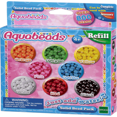 Aquabeads Solid Bead Pack - Multi-coloured