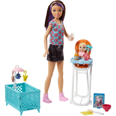 Barbie Skipper Babysitters Doll and Feeding Playset