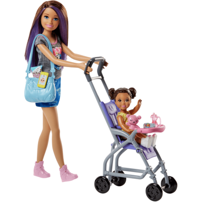 Barbie Skipper Babysitters Doll and Stroller Playset