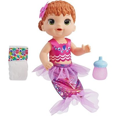 Baby Alive Shimmer 'N' Splash Mermaid Doll