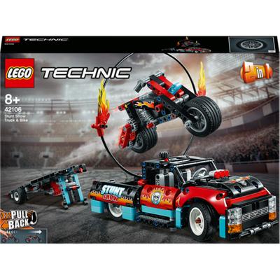 LEGO Technic 2-in-1 Stunt Show Truck & Bike - 42106