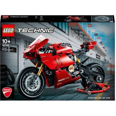 LEGO Technic Ducati Panigale V4 R Motorbike Model Set - 42107