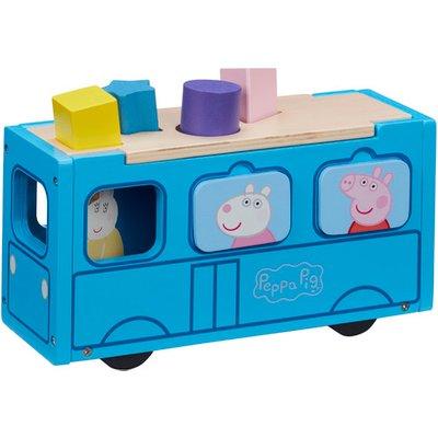 Peppa Pig Wooden School Bus