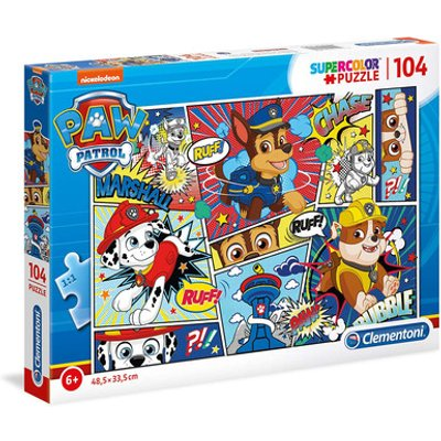 Paw Patrol Supercolour Puzzle - 104 Pieces