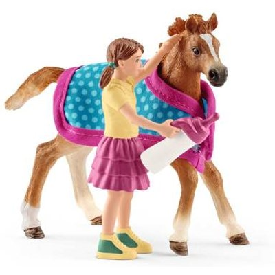 Schleich Horse Club Foal with Blanket Playset