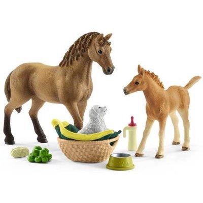 Schleich Horse Club Sarah's Baby Animal Care Playset