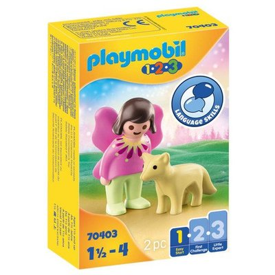 Playmobil 70403 1.2.3 Fairy Friend with Fox Figures