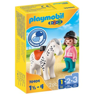 Playmobil 70404 1.2.3 Rider with Horse Figures