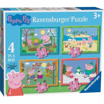 Ravensburger 4 in A Box Puzzles - Peppa Pig 'Seasons'