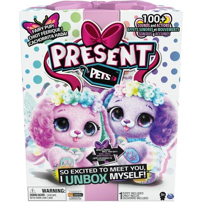 Present Pets Interactive 12' Puppies: Rainbow Fairy Soft Toy (Styles Vary)