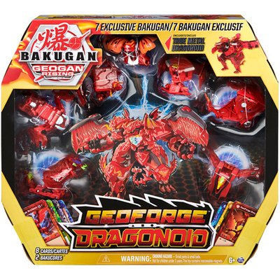 Bakugan: Geogan Rising - GeoForge Dragonoid 7-in-1 Collectible Figure and Trading Cards