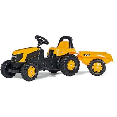 Rolly Kid JCB Ride-On Tractor & Trailer
