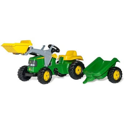 Rolly Kid John Deere Ride-On Tractor with Frontloader & Trailer