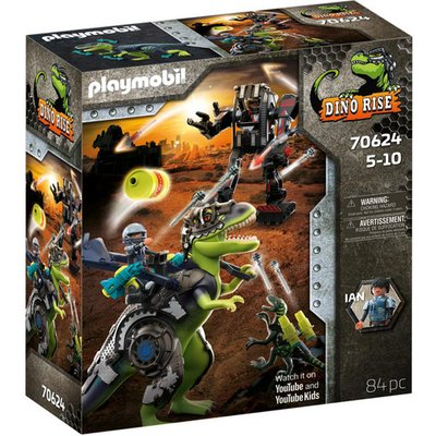 Playmobil 70624 Dino Rise T-Rex: Battle of the Giants Playset