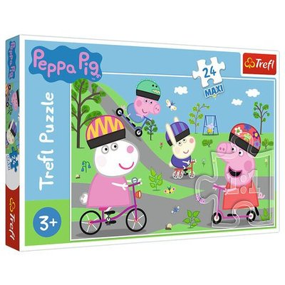 Trefl- Peppa Pig Maxi Puzzle - 24 pcs.