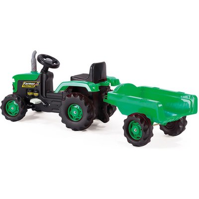 Dolu Tractor Pedal Operated Ride On With Trailer by Dolu