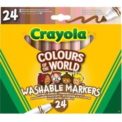 Crayola: Colours of The World - 24 Washable Markers