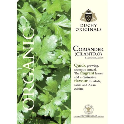 Coriander (Cilantro) - Duchy Originals Organic Seeds