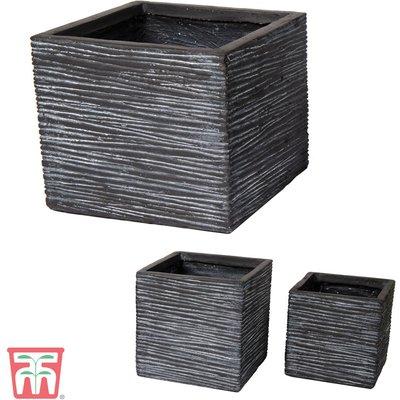 Fibre Clay Vermont Cube Graphite Pot Set