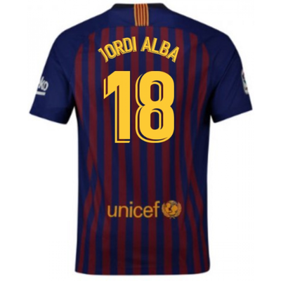 2018 2019 Barcelona Home Nike Football Shirt  Jordi Alba 18    Kids - 5057771648400