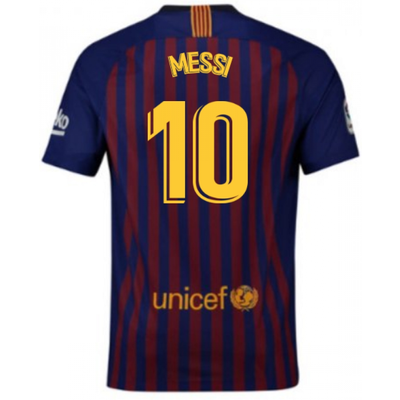 2018 2019 Barcelona Home Nike Football Shirt  Messi 10  - 5057771648417
