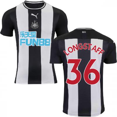 2019 2020 Newcastle Home Football Shirt  LONGSTAFF 36  - 5059310928899
