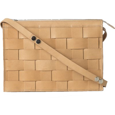 Eduards - Näver Small Leather Shoulder Bag in Nature