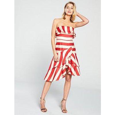 Colour Block Dresses Panelled Slimming Contrast Illusion