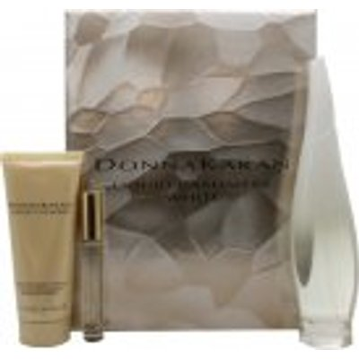 DKNY Liquid Cashmere White Gift Set 100ml EDP   100ml Body Lotion   10ml Rollerball Mini EDP - 0022548364864